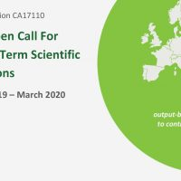 An Open Call For Short Term Scientific Missions (STSM) - EXTENDED deadline for applications 5