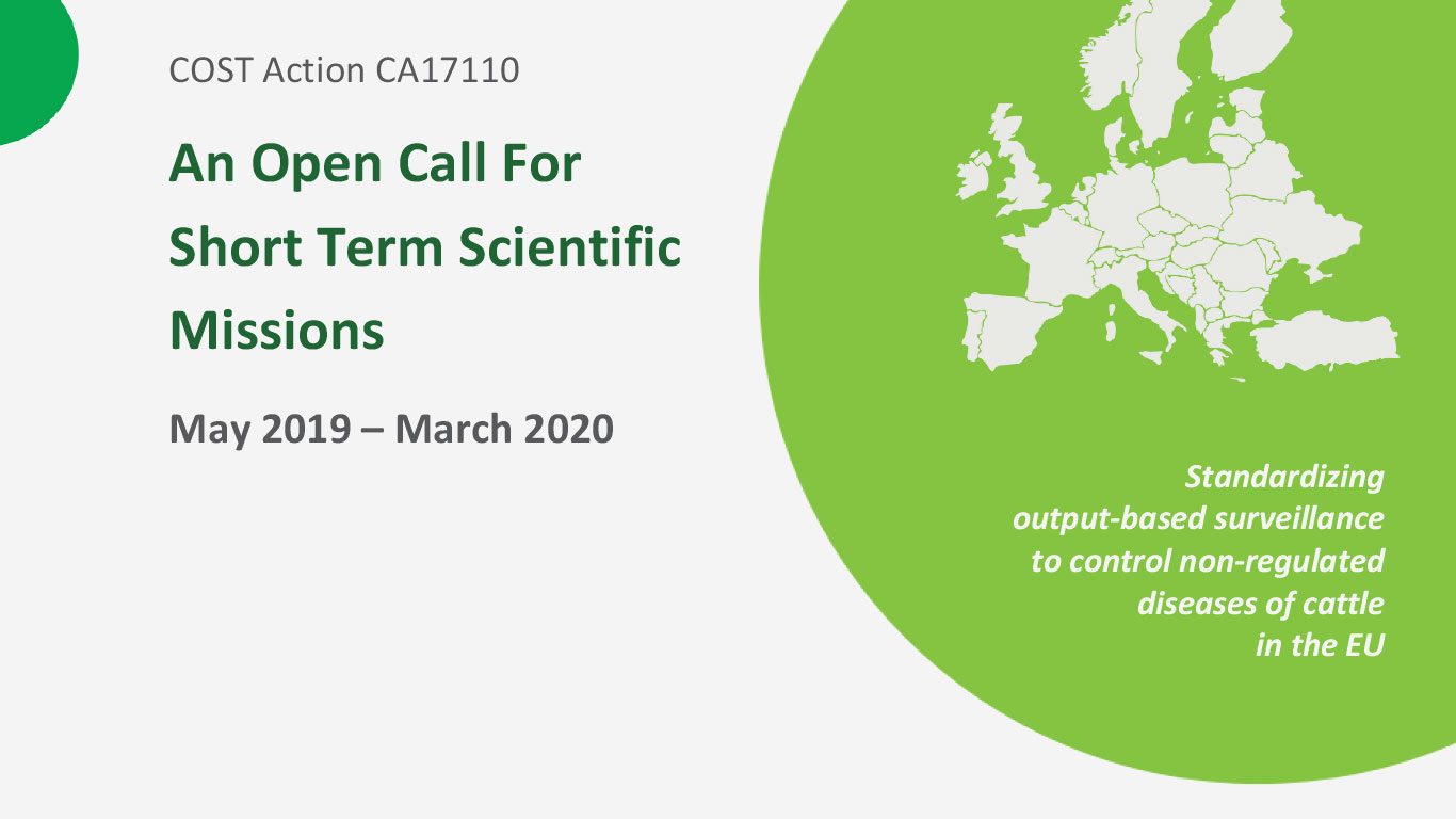 An Open Call For Short Term Scientific Missions (STSM) - EXTENDED deadline for applications 12