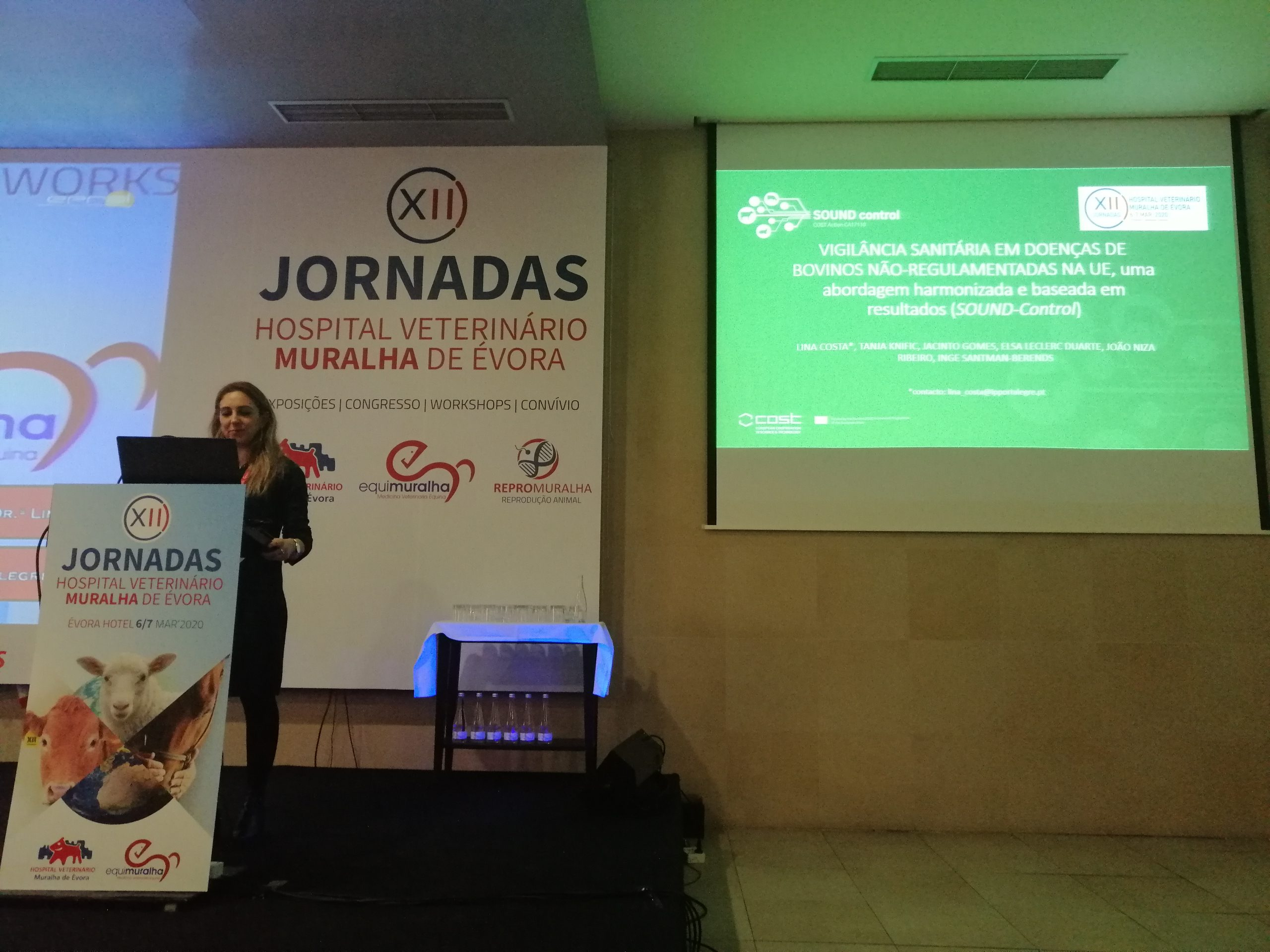 Lina Costa presents SOUND Control at the 12th Jornadas Hospital Veterinario Muralha de Evora 2