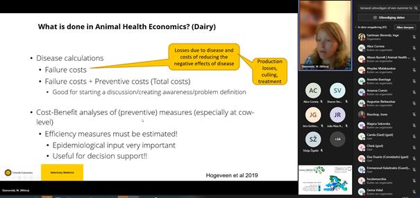 "Webinar ""Animal health economics"" by Wilma Steeneveld 1"